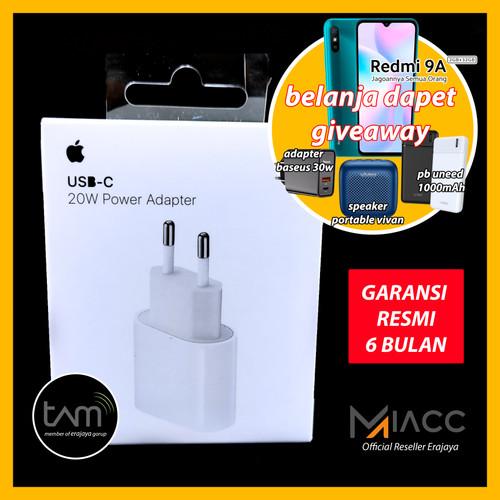 Foto Produk CHARGER ADAPTER IPHONE 12 PRO MAX 12 MINI 20W TYPE C ORIGINAL - GARANSI RESMI dari miacc