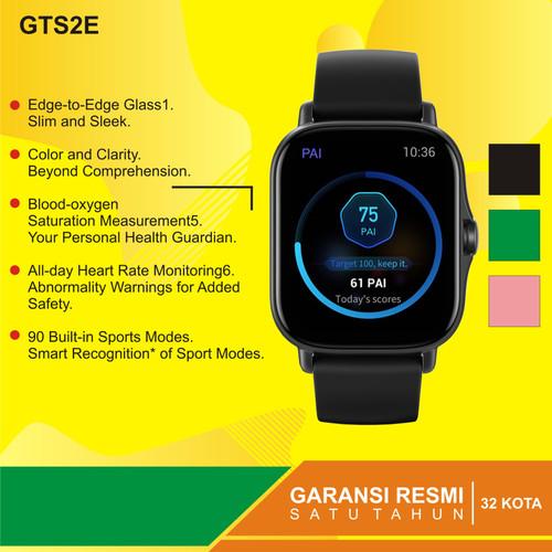 Foto Produk Amazfit GTS 2E Special Health & Ultra GTS 2E Garansi Resmi 1tahun - Hitam dari Kardel Shop