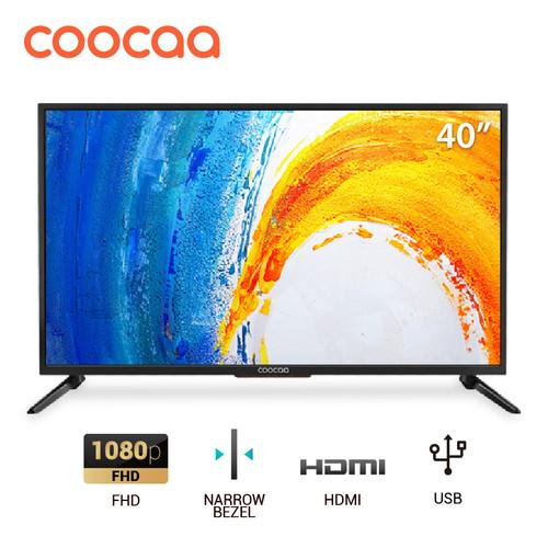 Foto Produk COOCAA LED TV 40 inch - Full HD Panel - Slim - USB/HDMI (Model : 40D5A dari Coocaa Official Store