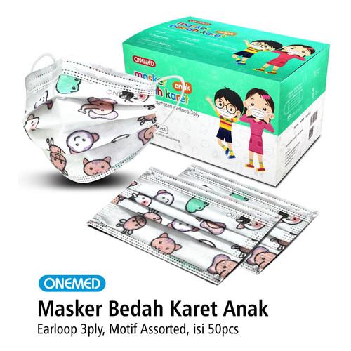 Foto Produk Masker Medis Karet Anak Motif Assorted OneMed Box Isi 50Pcs dari Onemed Rawat Luka