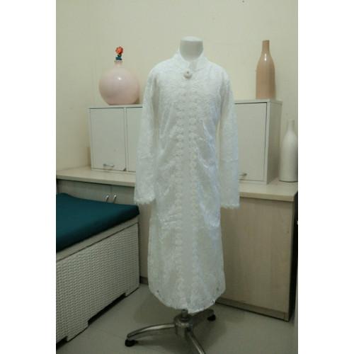 Foto Produk Baju Pakaian Muslim Gamis putih anak Perempuan tersedia size buat Ibu - 4 dari ZAHRA 77 COLLECTION