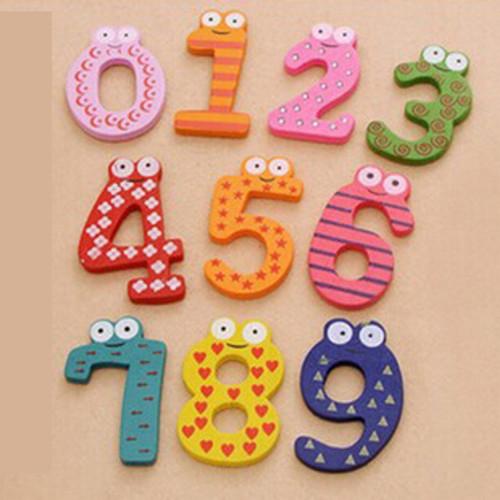 Foto Produk Alphabet huruf magnet kulkas, alphabet kayu magnet, Tempelan kulkas - Angka 0-9 saja dari Lovely Gubuk