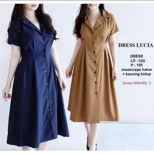 Foto Produk DRESS WANITA KASUAL / LUCIA DRESS - Navy dari vanillafashion