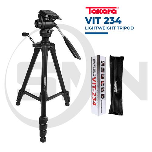 Foto Produk Tripod Takara VIT 234 Fluid Head + Bag Video Tripod - Tanpa holder HP dari SMN Official