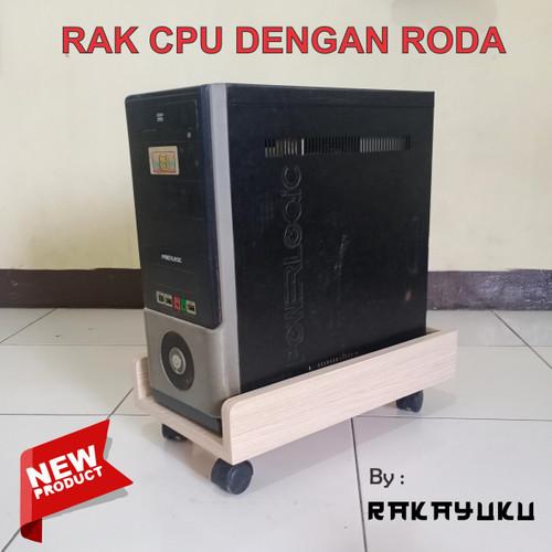 Foto Produk Rak CPU, tray CPU, tempat CPU - cokelat tua dari RAKAYUKU