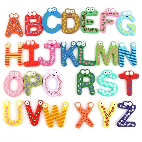 Foto Produk Alphabet huruf magnet kulkas, alphabet kayu magnet, Tempelan kulkas - Huruf A-Z dari Lovely Gubuk