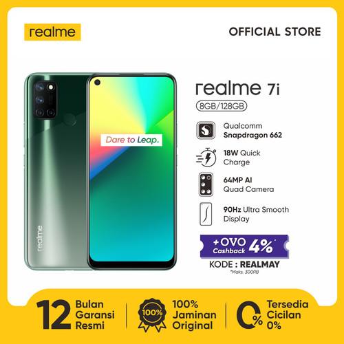 Foto Produk realme 7i 8/128GB [64MP AI Quad Camera, Snapdragon 662, 5000mAh] - Hijau dari realme Official Store