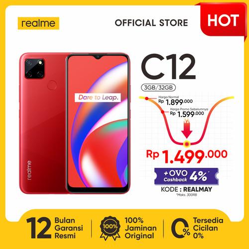 """Foto Produk realme C12 3/32GB[Helio G35, 6000mAh Battery,6.5""""Mini-drop Fullscreen] - Merah dari realme Official Store"""