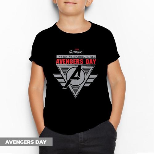 Foto Produk Kaos anak laki laki 1 - 10 tahun / BAJU ANAK DISTRO PREMIUM FULL TAG - AVENGER LOGO, S dari SATIRES