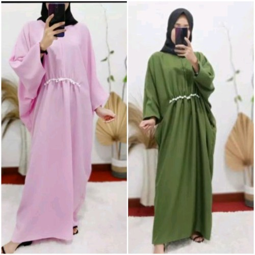 Foto Produk sherina kaftan/kaftan muslim wanita/kaftan velvet/busana muslim murah dari dewshop