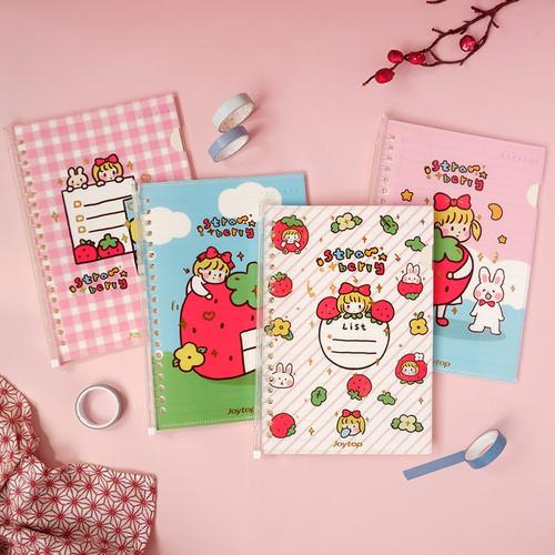Foto Produk Strawberry Girl File Binder Notebook A5 - Buku Binder A5 - Binder A5 dari Pinkabulous
