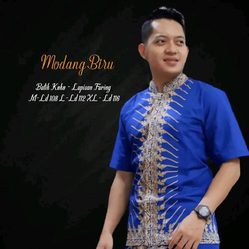 Foto Produk kemeja batik modang biru premium dari Jivan Batik