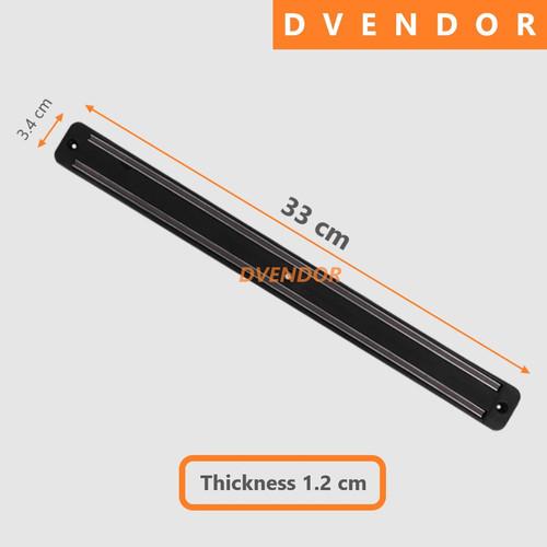 Foto Produk GANTUNGAN RAK PISAU MAGNET HANGER MAGNETIC KNIFE RACK HOLDER STORAGE - 33 cm dari DVendor
