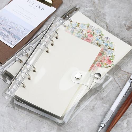 Foto Produk Korean Style Clear Cover 6 Ring Binder A5 - Binder A5 - Binder 6 Ring dari Pinkabulous