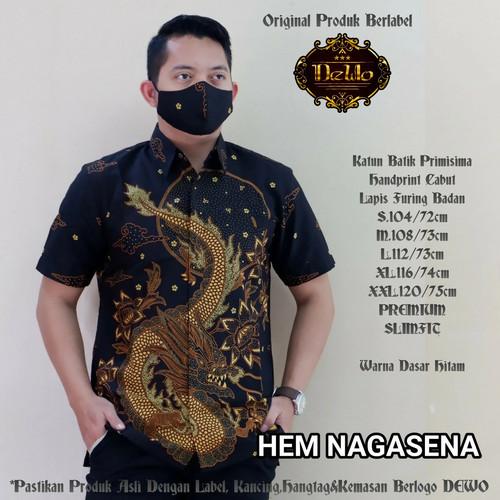 Foto Produk kemeja pria slimfit premium batik nagasena dari Jivan Batik
