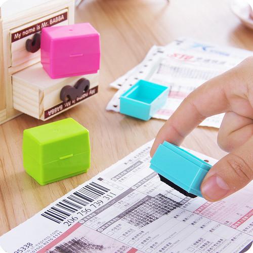 Foto Produk SIGNET Stamp Roller - Stempel Penghapus Alamat Tinta Permanen - Merah Muda dari tokokoeofficial