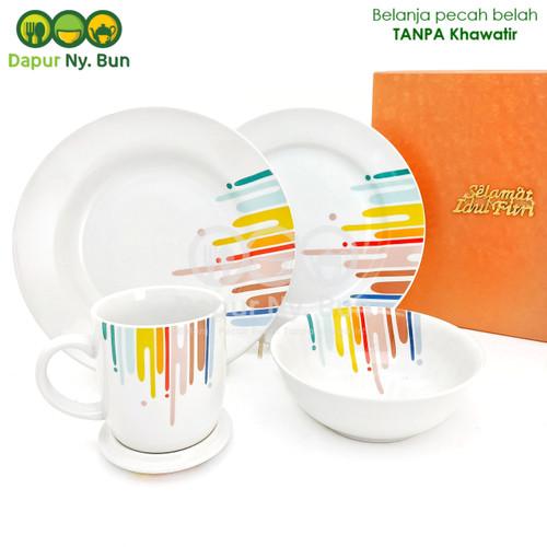 Foto Produk Paket Hampers Lebaran 4 Pcs Perlengkapan Makan Motif RAINBOW dari Dapur Ny.Bun