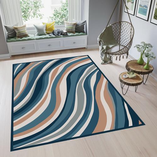 Foto Produk ARTSY - Karpet Mustard Series Anti Slip - 100x140 cm - Haruka Blue dari ARTSY OFFICIAL STORE