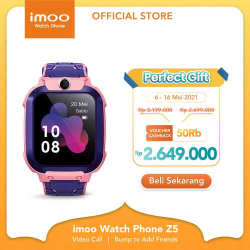 Foto Produk imoo Watch Phone Z5 - HD Video Call - PINK dari imoo Official Store