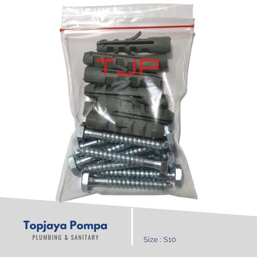 Foto Produk Fisher S10 + Sekrup (10 Pcs) dari TOPJAYA POMPA