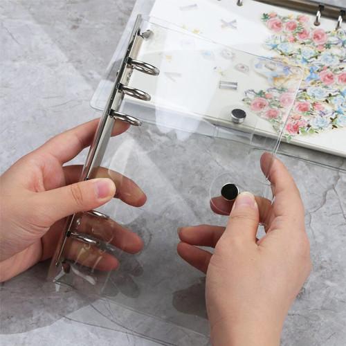 Foto Produk Korean Style Clear Cover 6 Ring Binder A6 - Binder A6 - Binder 6 Ring dari Pinkabulous