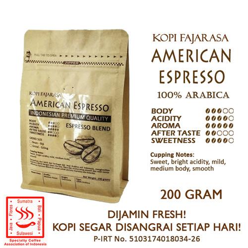 Foto Produk Kopi Fajarasa American Espresso Biji Kopi Espresso Blend 200 gram dari Kopi Jayakarta