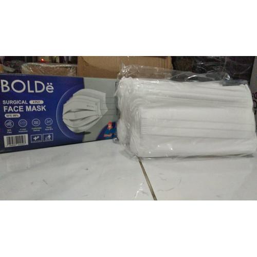 Foto Produk BOLDe Super Mask Surgical Mask 4 ply / Masker Medis izin Depkes - Putih dari ERNIKITA Store