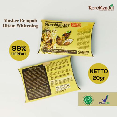 Foto Produk Masker Rempah Hitam Mencerahkan / Kulit Kencang | Roro Mendut BPOM dari Kissforri Official