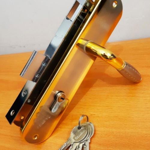 Foto Produk Kunci Pintu Set Besar 25cm / Gagang Pintu Rumah - Gold dari The Season88