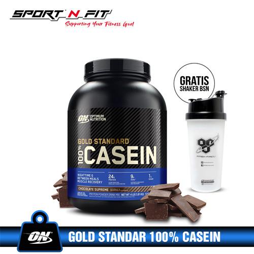 Foto Produk ON 100% Whey Gold Standar CASEIN 4Lbs - Coklat dari Sport N Fit