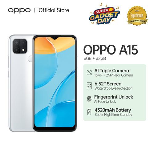 Foto Produk OPPO A15 Smartphone 3GB/32GB (Garansi Resmi) - Putih dari OPPO OFFICIAL STORE
