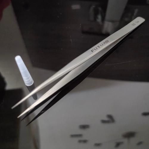 Foto Produk Pinset Lurus Future SS Sa Original Stainless Steel Tweezer HighQuality dari RAJACELL BEKASI