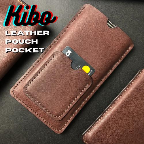 Foto Produk Leather Pouch HP SleeveCase + Pocket Card(Bisa Custom Semua HP) dari KiboBag