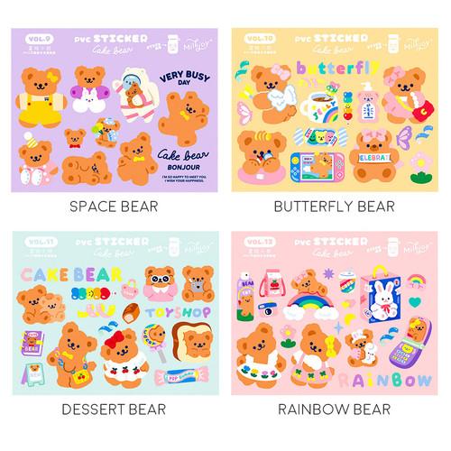 Foto Produk Cake Bear Flake Stickers Set - Sticker Unik - Sticker Lucu - Butterfly Dear dari Pinkabulous