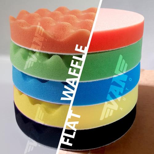 Foto Produk 5 pcs Sponge Polishing / Only Sponge / Busa Poles 3/4/5/6/7 inches - Flat, 3inch dari VANAUTO