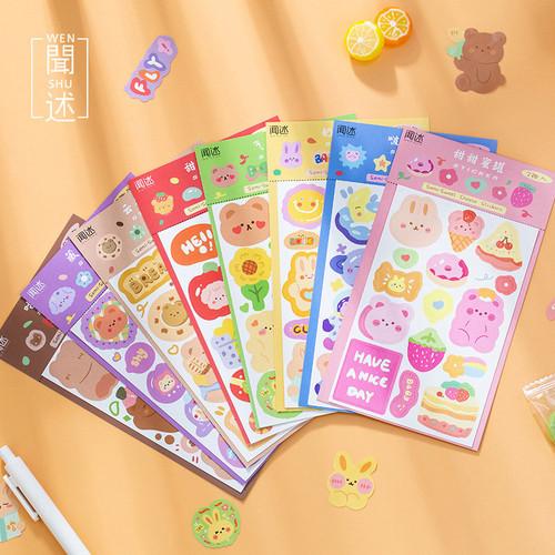 Foto Produk Colorful Tales Diary Deco Stickers - Sticker Unik - Sticker Lucu dari Pinkabulous