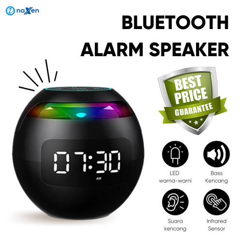 Foto Produk Speaker Bluetooth Naxen G-90S Jam Alarm Clock LED Display + FM Radio dari TokoUsbcom