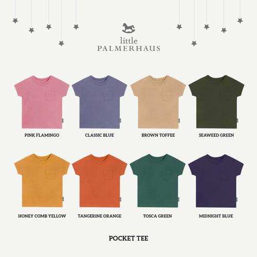 Foto Produk Little Palmerhaus - Pocket Tee (Kaos Pendek) - 4 YEARS, PINK FLAMINGO dari Chubby Baby Shop