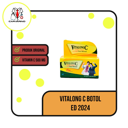 Foto Produk Vitalong C botol isi 30 kapsul ED 2023 dari carvarino