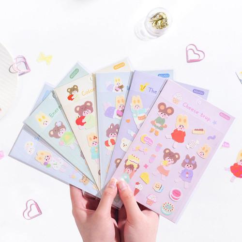 Foto Produk Sweetheart Milk Diary Deco Stickers - Sticker Unik - Sticker Lucu dari Pinkabulous