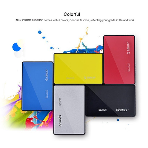 Foto Produk Orico Enclosure 2580U3 HDD SSD Casing Hard Drive 2.5 inch SATA USB 3.0 dari PojokITcom Pusat IT Comp