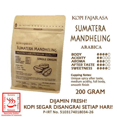 Foto Produk Kopi Fajarasa Sumatera Mandheling Biji Kopi Arabica 200 gram - Bean dari Kopi Jayakarta