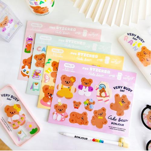 Foto Produk Cake Bear Flake Stickers Set - Sticker Unik - Sticker Lucu dari Pinkabulous