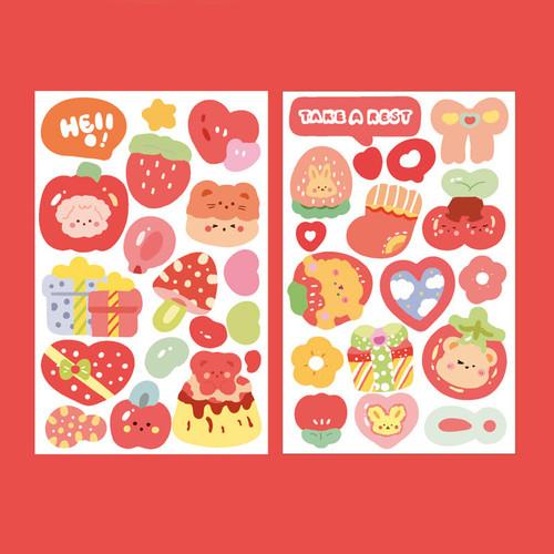 Foto Produk Colorful Tales Diary Deco Stickers - Sticker Unik - Sticker Lucu - Red dari Pinkabulous