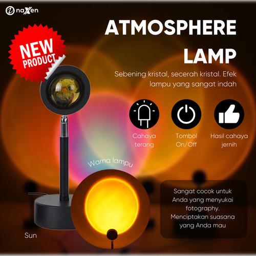 Foto Produk Lampu Atmosphere Naxen Sunset Lamp Live Background Lighting Photograph - sun dari TokoUsbcom