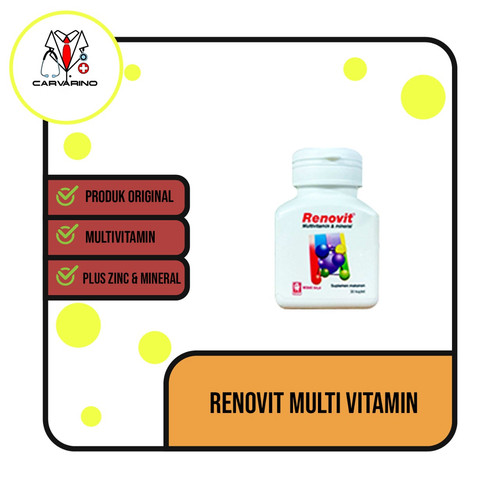 Foto Produk Renovit multivitamin lengkap plus ZINC dari carvarino