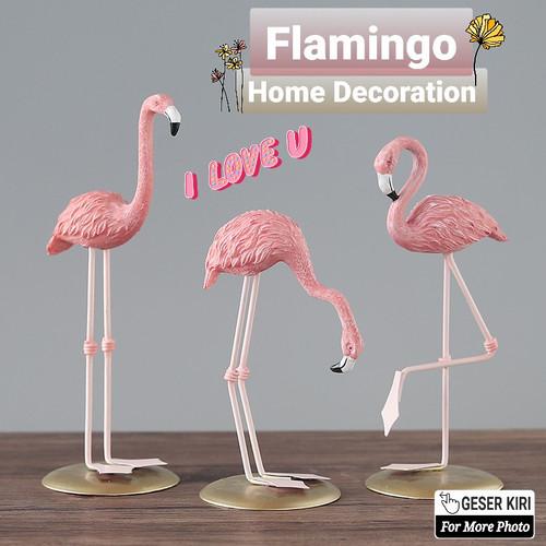 Foto Produk Flamingo Home Decoration Patung Pajangan Flamingo Bangau Pink Statue - 002 dari Ahoki Store