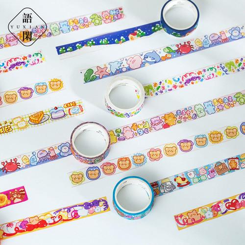 Foto Produk Masking Tape Gummy Zoo Planet 15mm - Selotip Unik - Selotip Lucu dari Pinkabulous