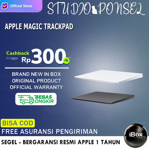 Foto Produk Apple Magic Trackpad 2 Space Gray MRMF2 / Silver MJ2R2 Original - Silver MJ2R2 dari Studio Ponsel
