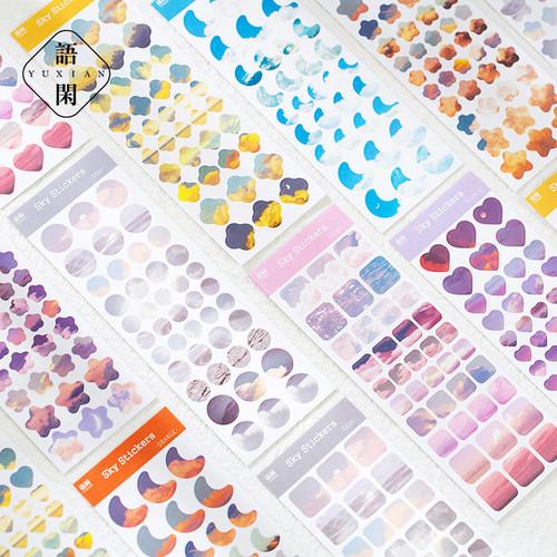 Foto Produk Look at The Sky Diary Deco Stickers - Sticker Unik - Sticker Lucu dari Pinkabulous